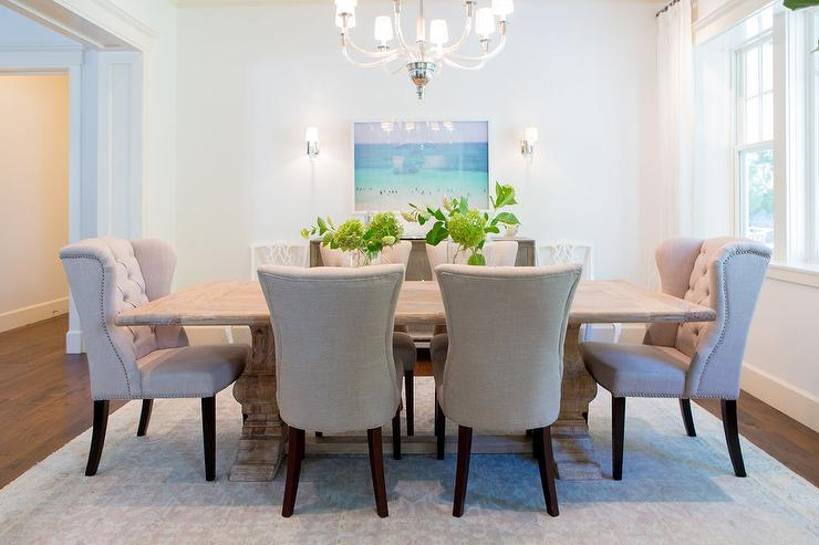 ivory channel tufted dining chairs design ideas