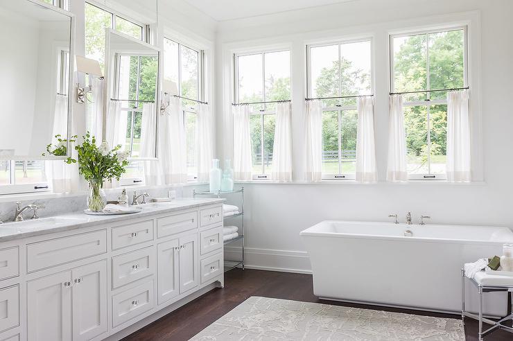 White Framed Bathroom Mirrors Design Ideas