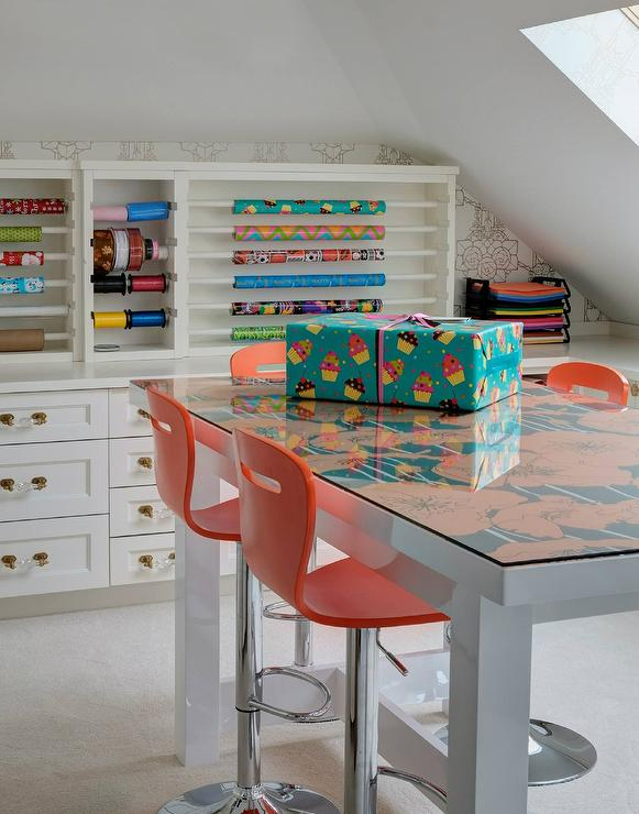 Craft Room With Wrapping Paper Station Cottage Den