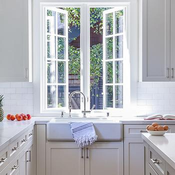 Kitchen Sink Under Windows Design Ideas