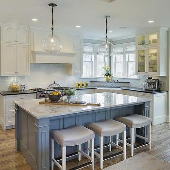 Grey Kitchen With Blue Accents interior design inspiration photosgreat neighborhood homes