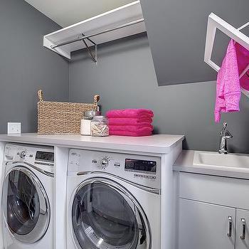 Drying Rack Transitional laundry room Crisp Architects