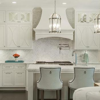 White Kitchen Herringbone Backsplash off white kitchen cabinets design ideas