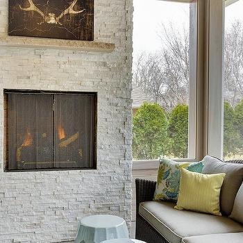 Yellow And Gray Sunroom Design Ideas