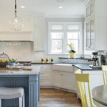 blue and yellow kitchen design cottage kitchen. Black Bedroom Furniture Sets. Home Design Ideas