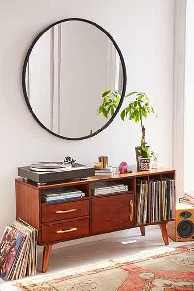 Black Umbra Oversized Hub Mirror