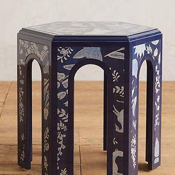Bungalow 5 Jacqui Navy 3 Drawer Side Table
