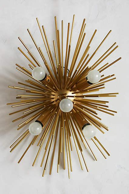 Fantastic Small Astra Gold Sconce VN47
