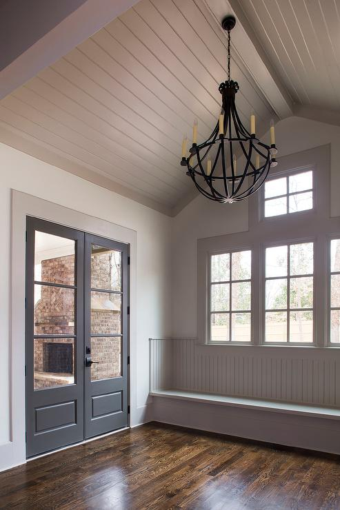 Beadboard vaulted ceiling design ideas Ceiling window