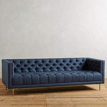 Modern Navy Tufted Sofa - Products, bookmarks, design ...