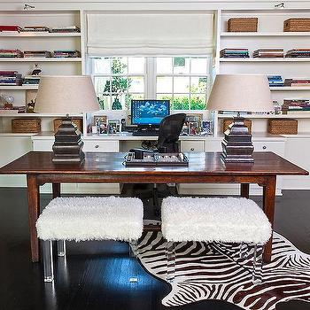 Office With Two Desks Design Ideas