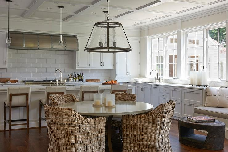 Modern Country Kitchen With Oversized Subway Tiles