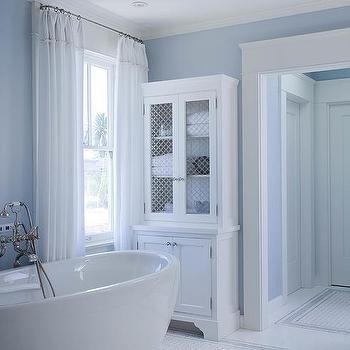 Bathrooms duck egg blue wallcovering design ideas for Blue lino for bathroom