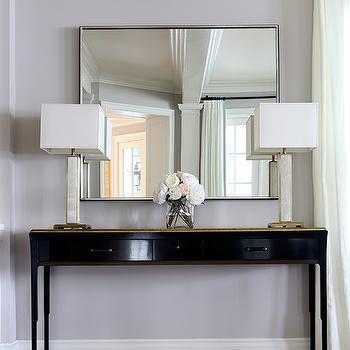 Gold Top Foyer Table Design Ideas