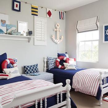 blue jays themed kids bedroom design ideas