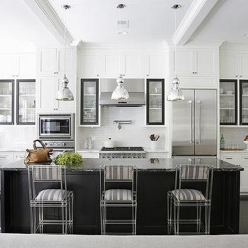 White Kitchen Cabinets Black Doors Design Ideas