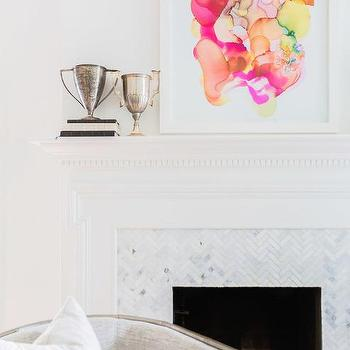 Herringbone Fireplace Surround Design Ideas