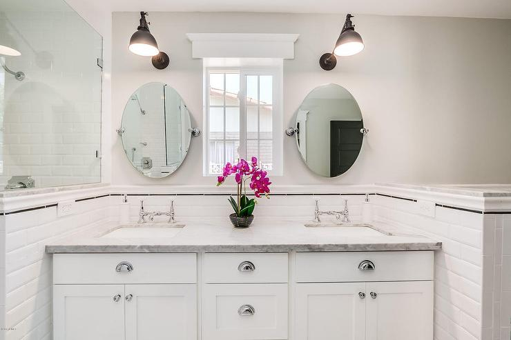 Bathroom Pivot Mirror restoration hardware oval pivot mirrors design ideas