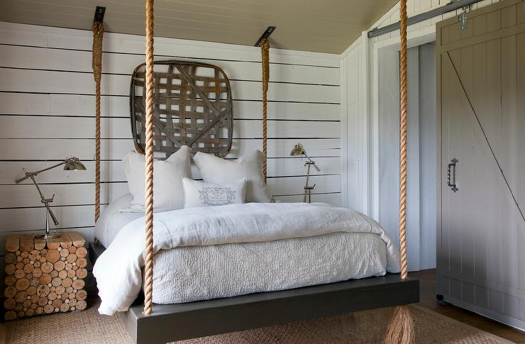 Suspended Rope Bed Country Bedroom