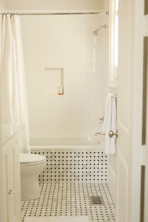 drop in tub. Vintage Tiled Drop Tub With Shower Niche In