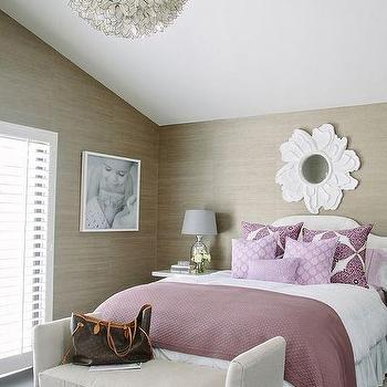 taupe and purple bedroom purple bathroom with purple lotus wallpaper contemporary 17464