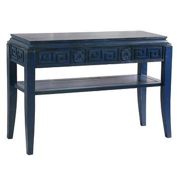 Antique Blue Chinoiserie Console Table