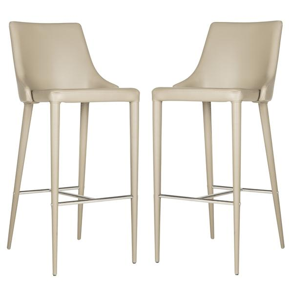 Safavieh Summerset Taupe Bar Stool  sc 1 st  Decorpad : taupe leather bar stools - islam-shia.org