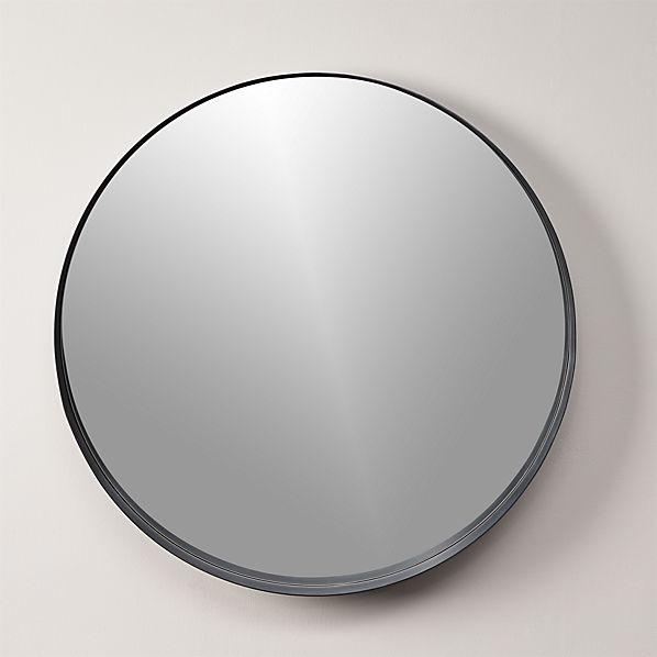 Black Crescent Mirror