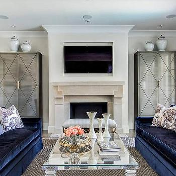 Gray Living Room Cabinets