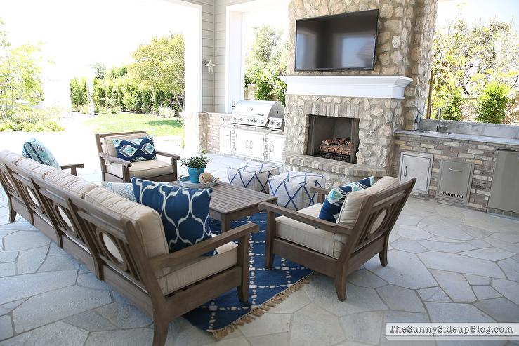 View Full Size. Covered Patio Features Restoration Hardware Leagrave  Classic Lounge Chairs ... Part 90