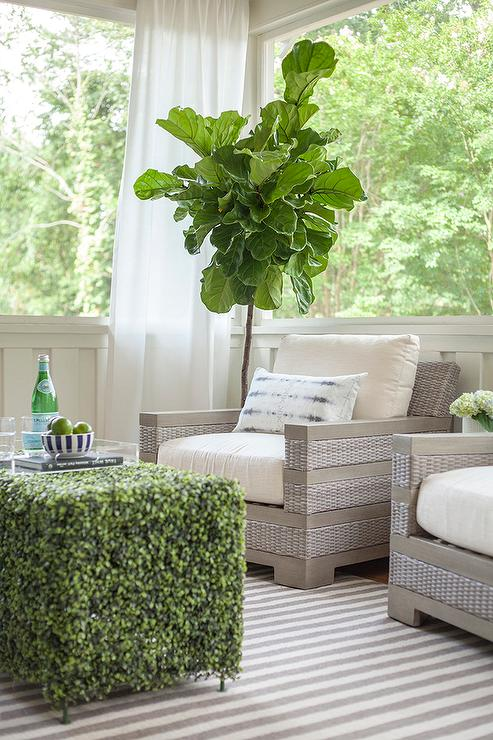 sun room furniture. Furniture For Sun Room. Gray Sunroom Wicker Chairs With Striped Rug View Full Size Room
