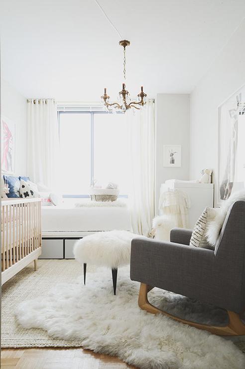 Sheepskin Rug Nursery Design Ideas