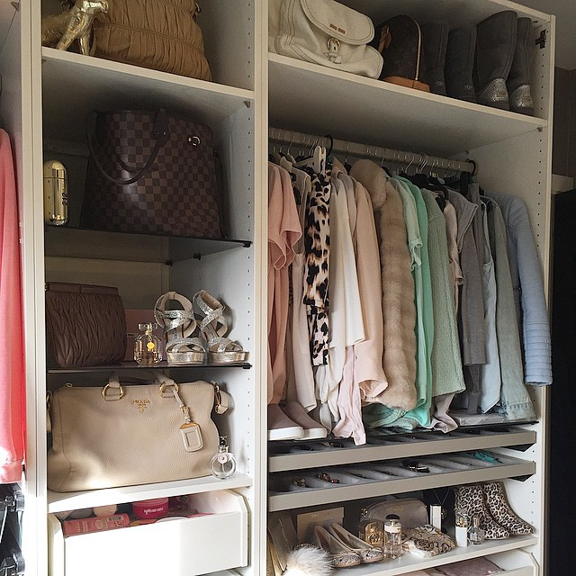 Walk In Closet With Pull Out Scarf Rack