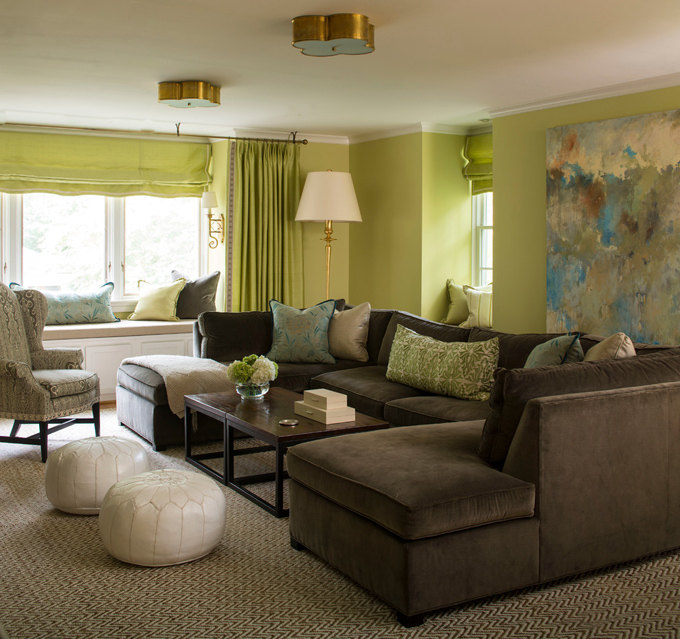 Blue Brown And Green Living Room brown and green living room design ideas