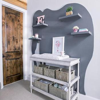 Rustic Nursery Shelves Design Ideas