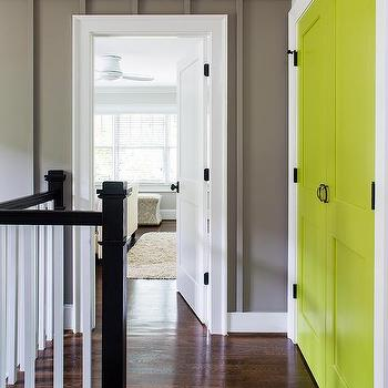Yellow Barn Doors Cottage Entrancefoyer Sherwin Williams Glad