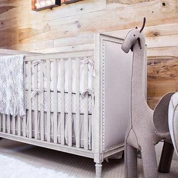 Rustic Nursery With Plank Accent Wall Cottage Nursery