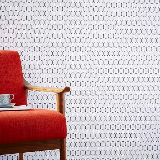 chasing paper honeycomb tile black and white wall panel