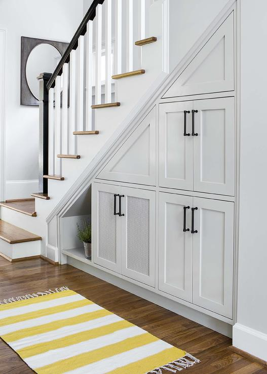 Under the stairs pull out cabinets contemporary - Under stairs cabinet ideas ...