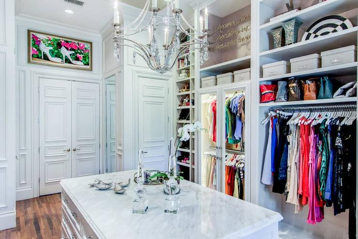 Double Doors To Walk In Closet Transitional Closet