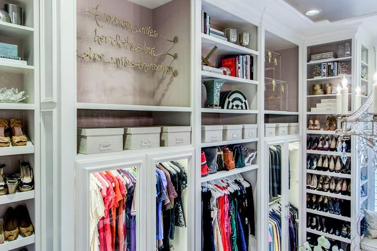 Closet With Floor To Ceiling Shelves
