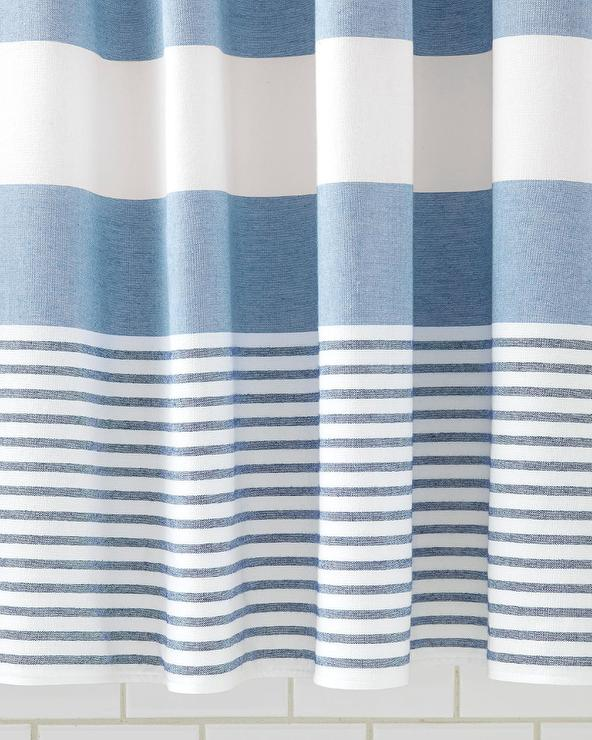Fouta Navy Shower Curtain