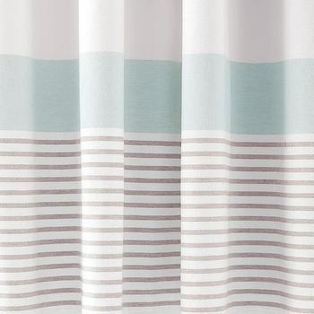 Aqua Stripe Shower Curtain - Products, bookmarks, design ...