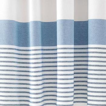 Striped shower curtain blue curtain menzilperde net for Blue and white striped bathroom accessories
