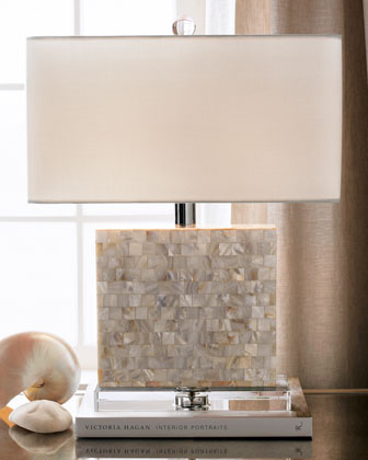 Mother of pearl table look 4 less and steals and deals regina andrew rectangular mother of pearl lamp view full size aloadofball Images