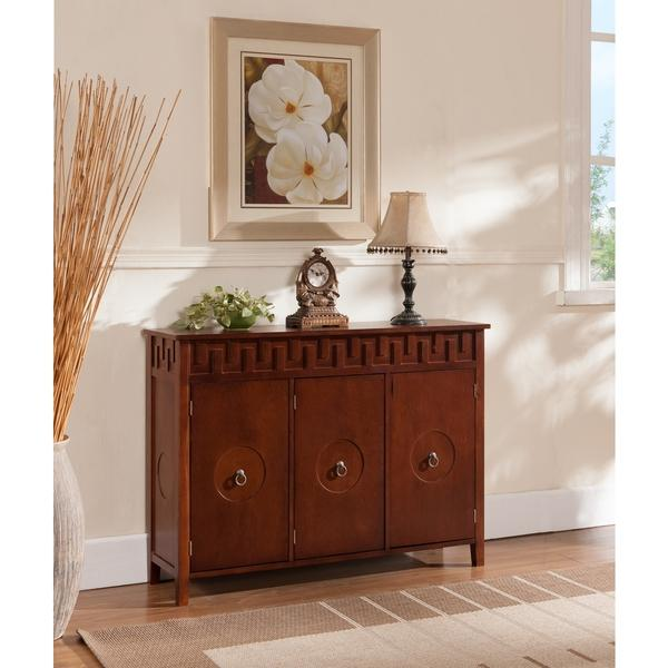walnut wood brown console table view full size