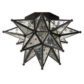 Vintage Star Flush Mount Ceiling Light 3 Finishes