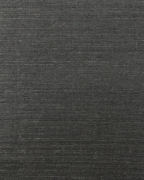 Grasscloth Black Wallpaper