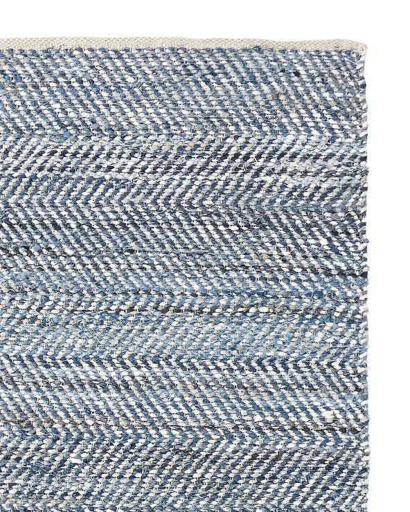 Porter Blue Denim And Suede Rug