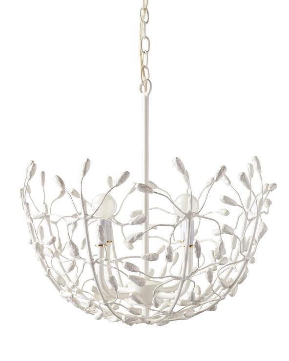 Flora chandelier white flora chandelier aloadofball Gallery